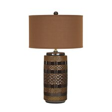 "Shadeena 28.5"" H Table Lamp with Drum Shade (Set of 2)"