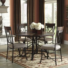 """Vinasville 30"""" Dining Table with Metal Legs"""
