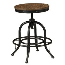 "Pinnadel 24"" Swivel Bar Stool (Set of 2)"