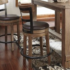 "Pinnadel 38"" Swivel Bar Stool (Set of 2)"