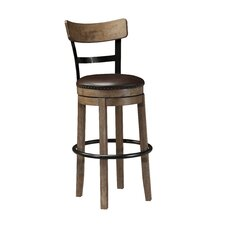 "Pinnadel 30"" Bar Stool with Cushion (Set of 2)"
