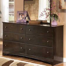 <strong>Signature Design by Ashley</strong> Sherman 6 Drawer Dresser