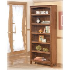 Cross Island Large Bookcase in Medium Brown Oak