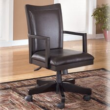 High-Back Carlyle Swivel Office Chair with Arm
