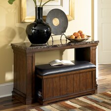 <strong>Signature Design by Ashley</strong> Mapleton Console Table with Ottoman