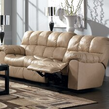 <strong>Signature Design by Ashley</strong> Valley Leather Reclining Sofa