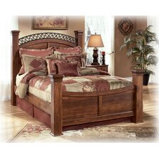 Timberline Poster Bed Rails in Brown Cherry