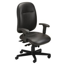 High-Back Leather Performance Office Chair