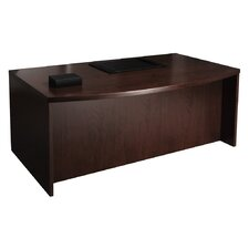 Mira Series Executive Desk with Bow Front