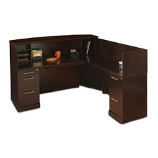 Sorrento Series Reception Desk with Veneer Counter