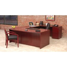Luminary Series U-Shape Executive Desk Typical