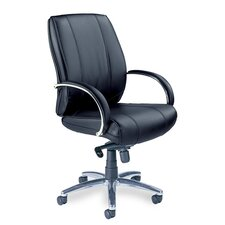 Mercado Mid-Back Leather Office Chair with Arms