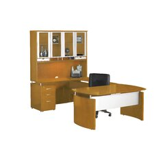 "Napoli Series 63"" W U-Shape Computer Desk with Hutch"