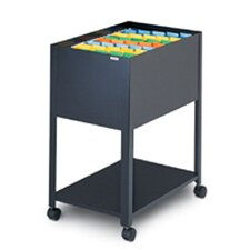 Mobilizer One Tier Steel Filing Cart