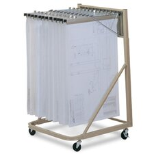 <strong>Mayline Group</strong> Vertical Plan Files: Rolling Stand with Hangers