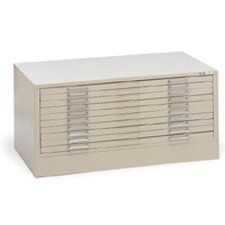 C-Files Ten-Drawer Flat File Filing Cabinet