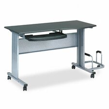 "Mobile Worktable 57"" W x 23.5"" D Computer Table"