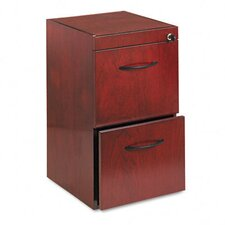 <strong>Mayline Group</strong> File/File Pedestal, 15W x 18D x 27H, Sierra Cherry