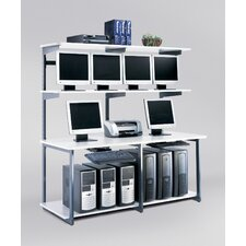 "<strong>Mayline Group</strong> e-LAN Computer Racking Systems 72"" W LAN Station"