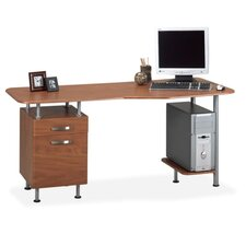 "<strong>Mayline Group</strong> Desk Workstation, Box/File, 63""x28-3/4""x29"", Medium Cherry"
