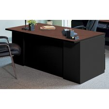 CSII Rectangular Executive Desk with 2 Pedestals