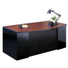 CSII Bow Front Executive Desk with 2 Pedestals