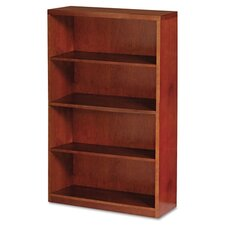 Mira Series Wood Veneer 4-Shelf Bookcase