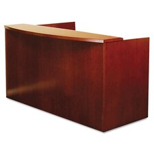<strong>Mayline Group</strong> Mira Series Wood Veneer Reception Desk Shell
