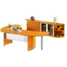 <strong>Mayline Group</strong> Napoli L-Shape Desk Office Suite