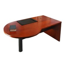 "Mira Series 29.38"" H x 72"" W Right Desk Peninsula"