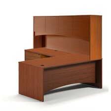 Brighton Series L-Shape Desk Office Suite