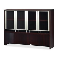 "51"" H x 72"" W Glass Door Desk Hutch"
