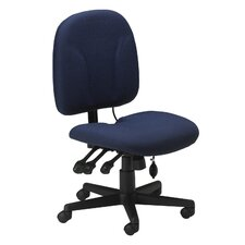 Mid-Back Fabric Task Chair with Optional Arms