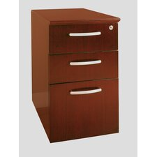 <strong>Mayline Group</strong> Napoli Pedestal File, 15-1/4W X24D X 27-1/2H, Sierra Cherry