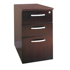 Napoli 3-Drawer Pedestal File