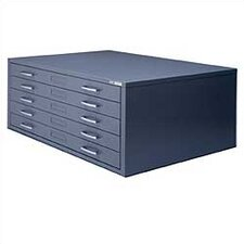 C-Files Five Drawer Flat File Filing Cabinet