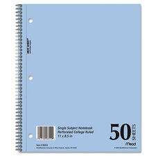 Mead Mid Tier Single Subject Notebook