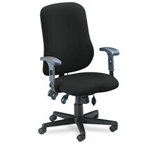 High-Back Contoured Support Task Chair with Arms