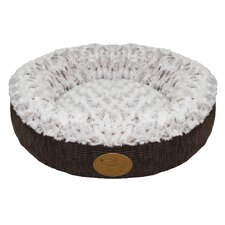 Curl Plush Doughnut Dog Bed