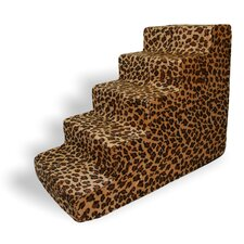 Animal Print 5 Step Pet Stair