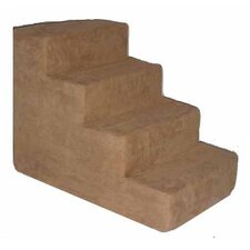 Pet Stairs in Light Brown Fleece