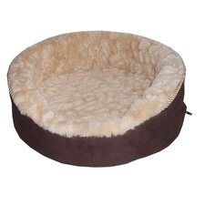 Plush Bolster Dog Bed