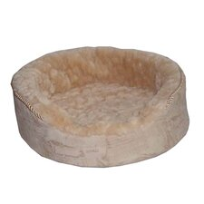 Plush Dog Bed in Light Brown