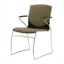 <strong>Source Seating</strong> Zag Leather Guest Side Chair