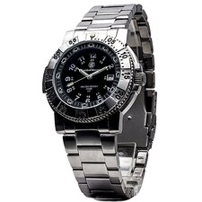 Aviator Men's Tritium H3 Round Face Link Watch