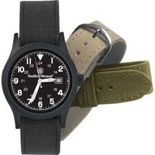 Military Men's Round Face Watch