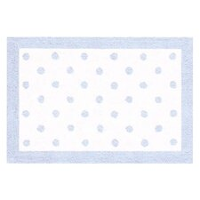 Blue Polka Dot Kids Rug