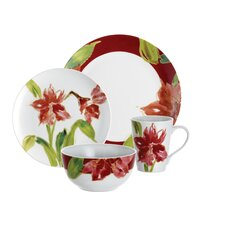 Signature Amaryllis 16-Piece Dinnerware Set