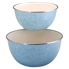 2-Piece Enamel on Steel Mixing Bowl Set
