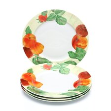 "Signature Dinnerware 12"" Georgia's Bounty Dinner Plates (Set of 4)"